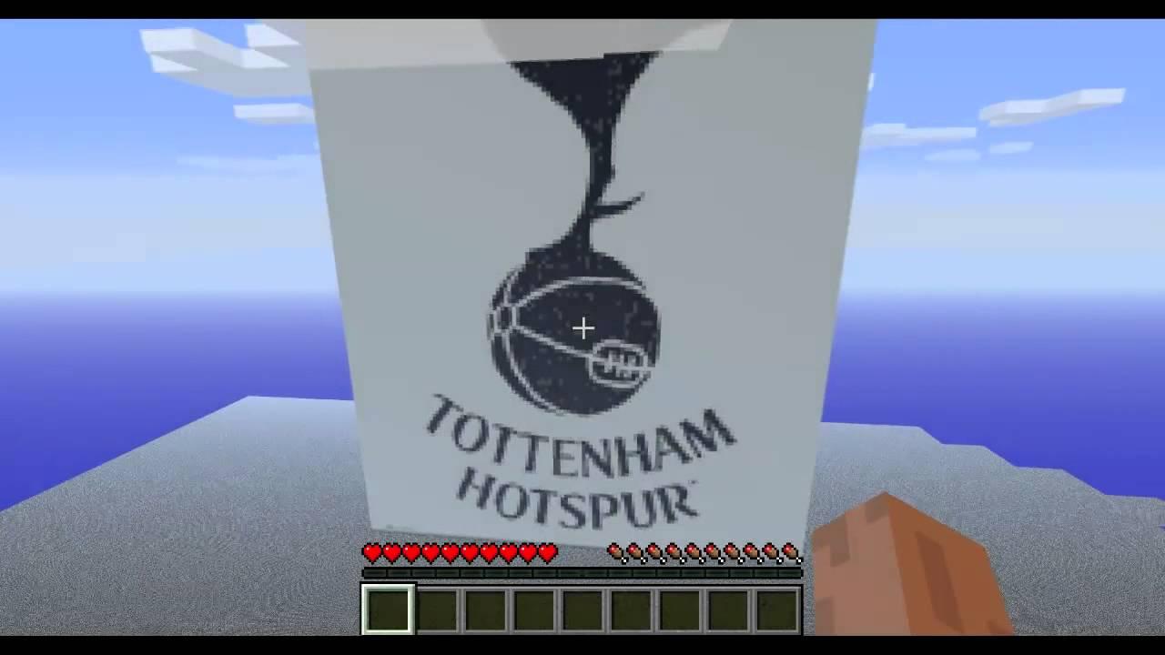 Tottenham Hotspur Crest Logo Minecraft Pixel Art Youtube