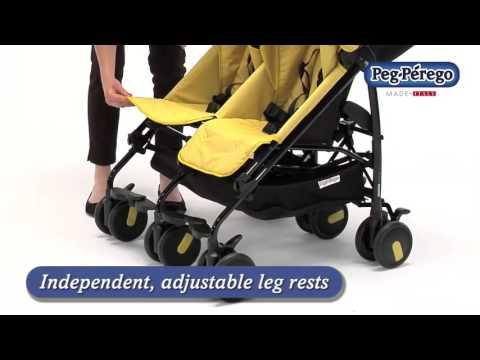 Lightweight Double Stroller - Pliko Mini Twin by Peg Perego