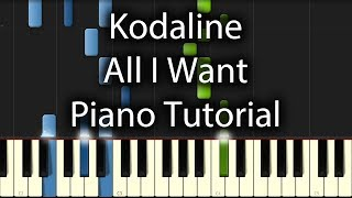 Download Lagu Kodaline - All I Want Tutorial (How To Play On Piano) Mp3
