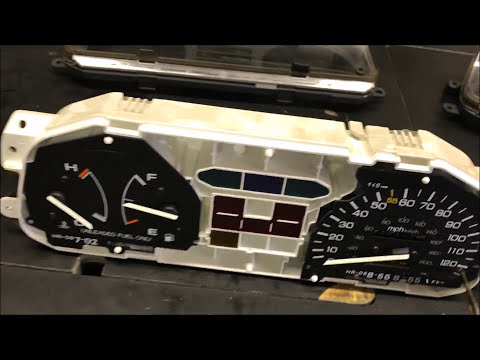 How to install a tachometer in a non-tach Honda Civic - YouTube  Honda Civic Cluster Tach Wiring Diagram on