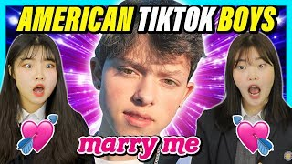 Korean Teens React To Top5 American TikTok Boy Stars (ft . Payton Moormeier)