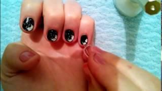 Маникюр. Рисунок на ногтях.Дизайн ногтей.В домашних условиях.Вечерний маникюр.