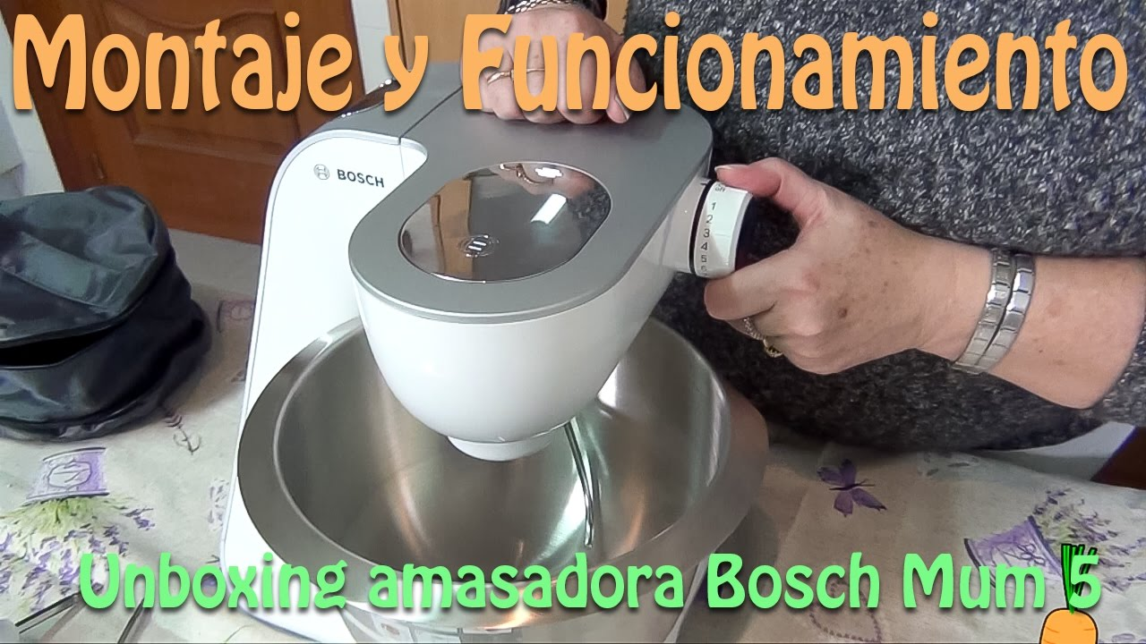 Unboxing amasadora Bosch Mum 5 - YouTube