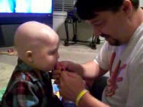 Daddy giving Aiden Pills!