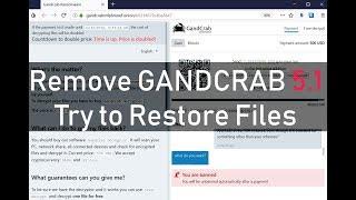 GANDCRAB 5.1 Virus - Remove +DECRYPT Files(Free)