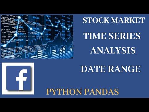 Pandas Time Series Analysis  Time Series Python Date Range  Facebook Stock Data