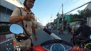 """CSGT Bình Tân bắt láo gặp camera hành trình!  """"Bắt chiếc này nè ông nội ơi''"""