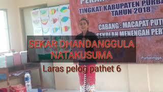 Tembang Macapat dhandhanggula Natakusuman laras pelog pathet 6