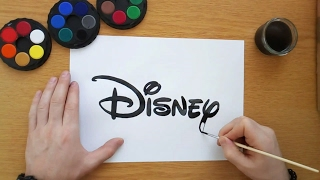 How to draw a Disney logo