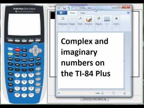 Complex Numbers On The Ti 84 Plus Youtube