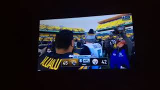 JAGUARS WIN!! 45-42 FIRST TIME IN THE AFC CHAMPIONSHIP GAME SINCE 1999!