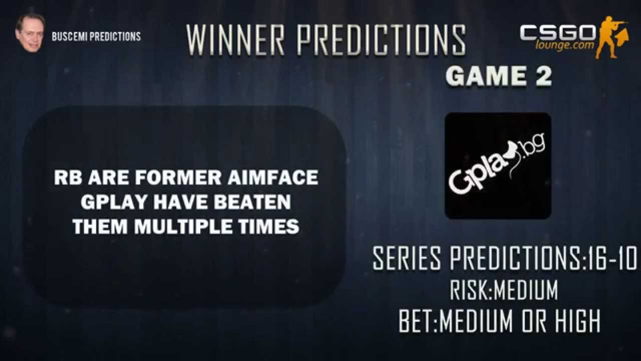 Csgo betting predictions youtube videos candace bettinger
