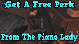"""Black Ops 2 Buried"" Free Perk From Piano Lady Easter Egg Trick! (""Black Ops 2 Zombies"")"