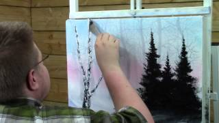 painting with magic big blue winter season 3 ep 5 wet on wet oil painting hd