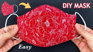 Very Easy Beautiful Mask Making Ideas Diy Breathable 3D Face Mask Easy Pattern Sewing Tutorial