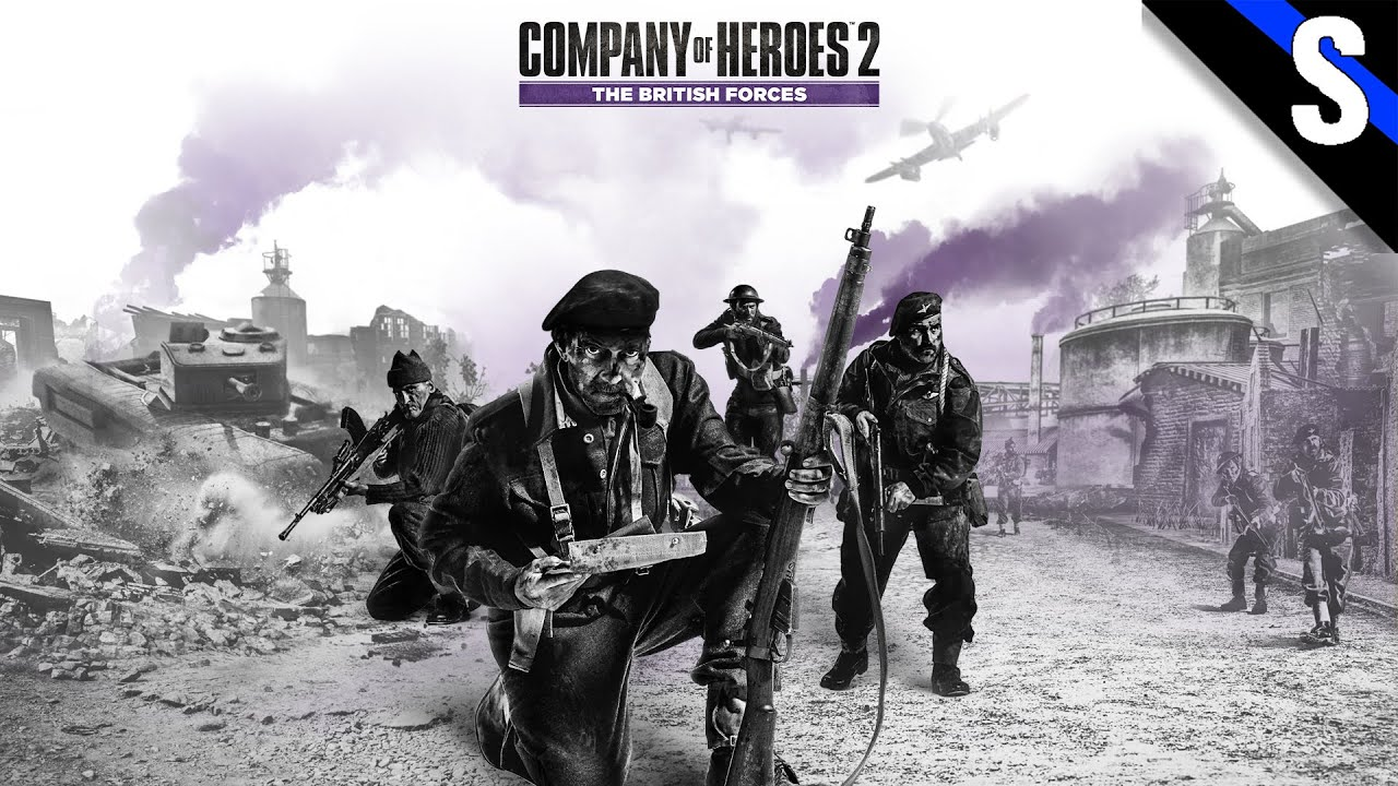 company of heroes 2 skirmish 4 british forces vs us forces youtube. Black Bedroom Furniture Sets. Home Design Ideas