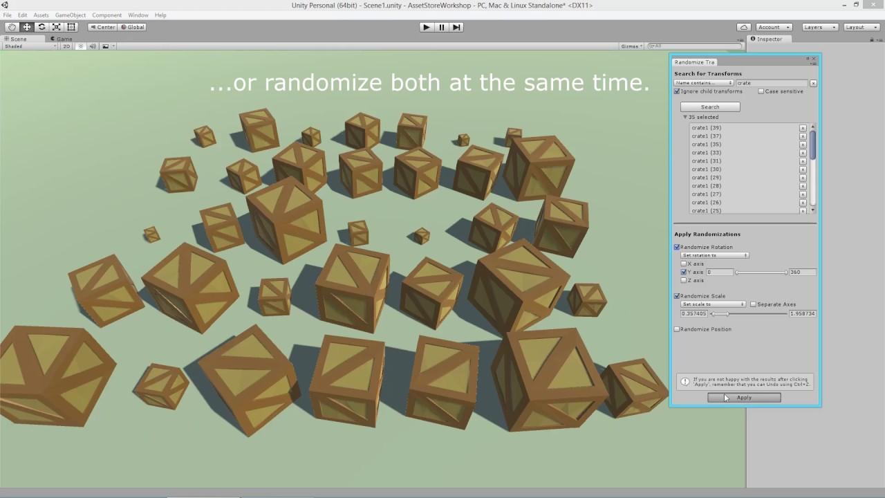 Randomize Transforms - Unity Editor Extension