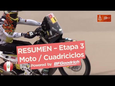 Resumen - Moto/Cuadriciclos - Etapa 3 (San Juan de Marcona / Arequipa) - Dakar 2019