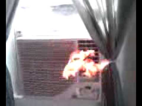 My Air Conditioner Is On Fire Youtube