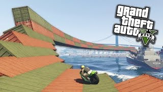 SUPER TRIPLO WALLRIDE CON LE MOTO! - GTA 5 ONLINE | xDegsta