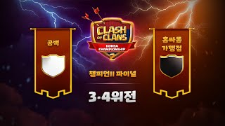코리아챔피언십2 파이널 챔2리그 3위 결정전! 동메달의…