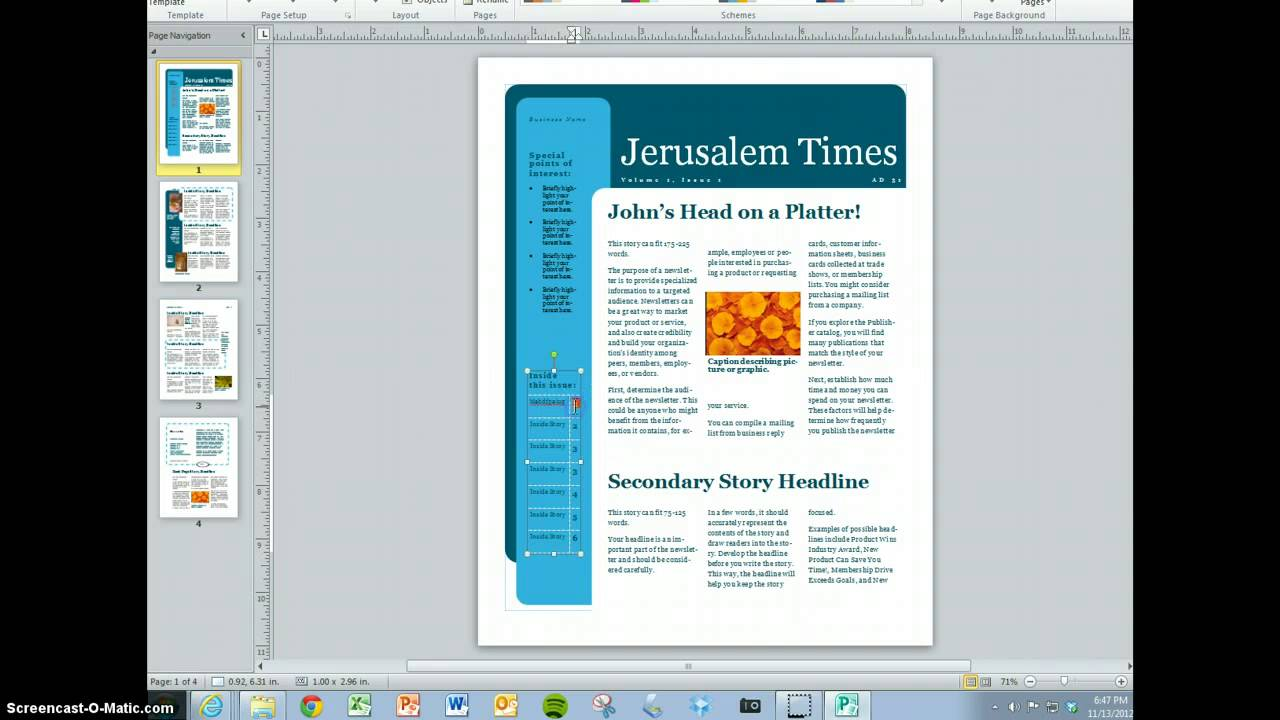 microsoft word magazine template