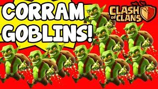 Clash Of Clans | CORRAM GOBLINS! CONSEGUINDO MUITOS RECURSOS!