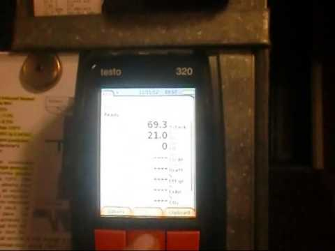 Testo 320 Outside & Inside Combustion Analysis Testing  | My Testo 320 has a Small Glitch