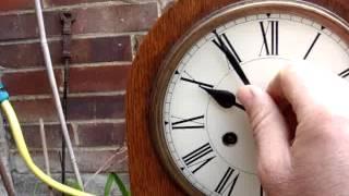 Antique Vintage Old Large Wooden Dome Mantle / Mantel Clock