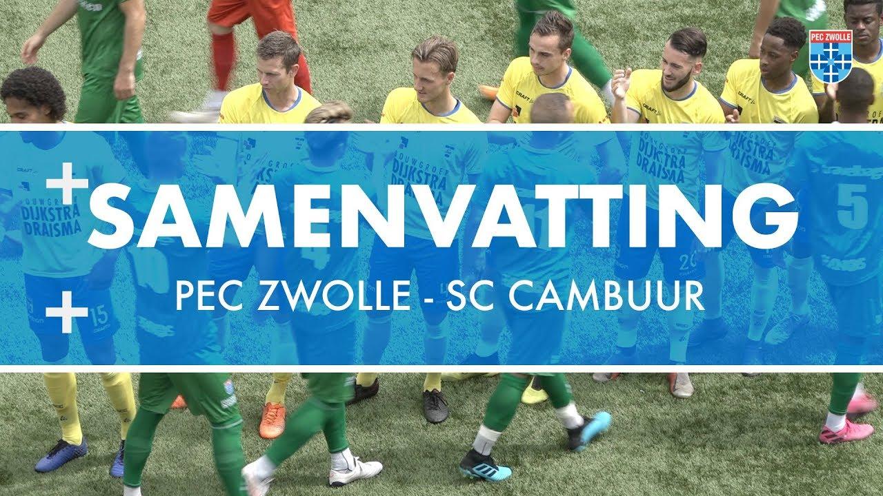 Samenvatting Pec Zwolle Sc Cambuur Youtube