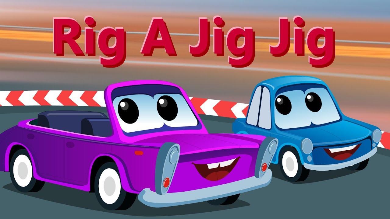 zeek and friends rig a jig jig nursery rhymes kids car song and rhymes youtube