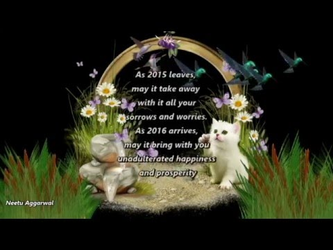 goodbye 2015 welcome 2016 happy new year animatedwishesquotessayingssmsgreetings youtube