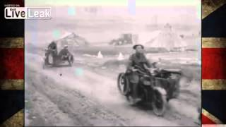 WWI Footage | British Motor Machine Gun Service