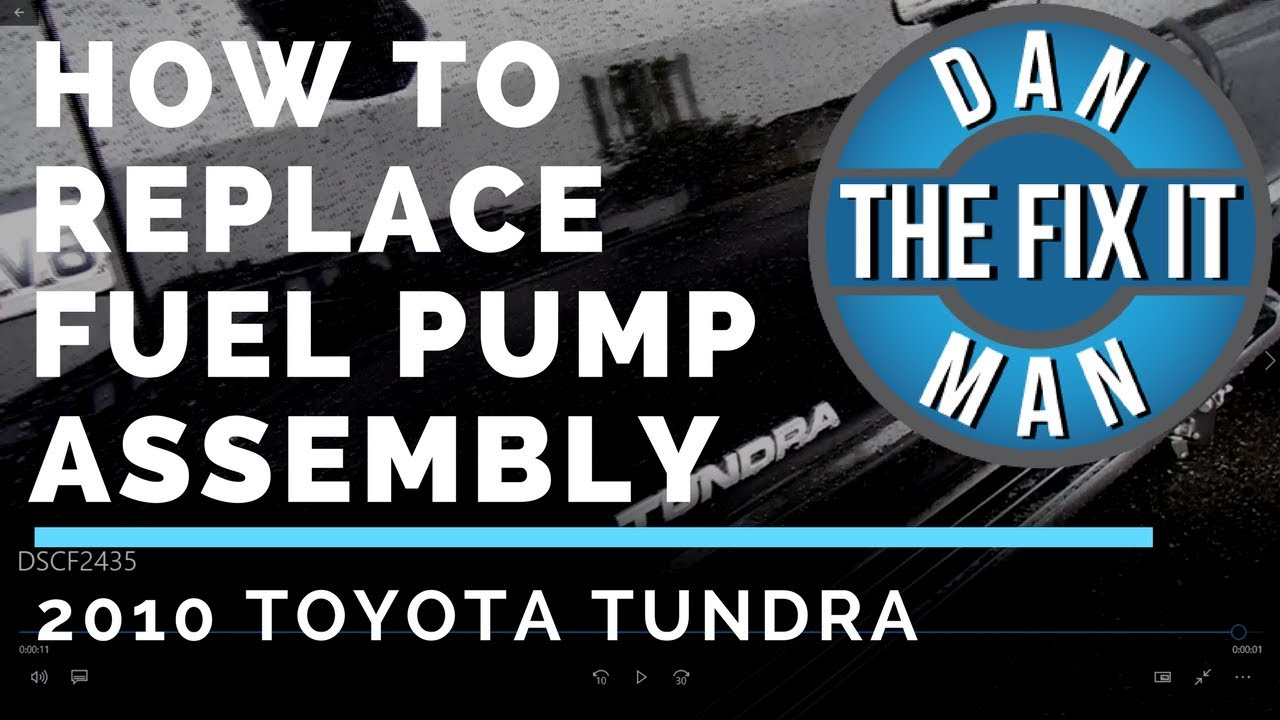 2010 Toyota Tundra Replacing The Fuel Pump Assembly Youtube 2011 Engine Diagram