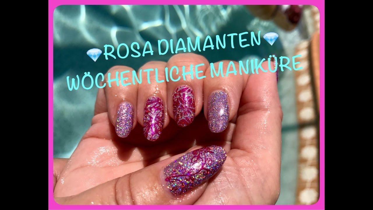 DEUTSCH*💎Rosa Diamant Nägel - Wöchentliche Maniküre💎 - YouTube