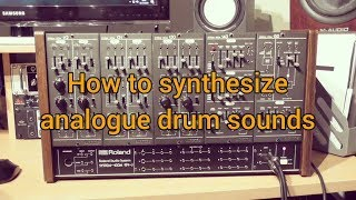 How To Synthesize Analogue Drum Sounds | Roland System 100m