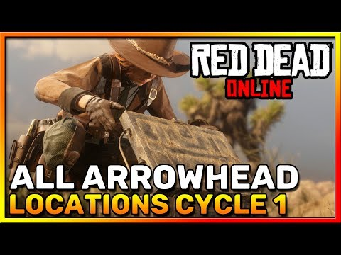 Red Dead Online Frontier Pursuits - All Arrowhead Locations Cycle 1 - Madam Nazar - RDR2 Online