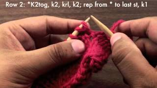 How to Knit the Vertical Herringbone Stitch (English Style)