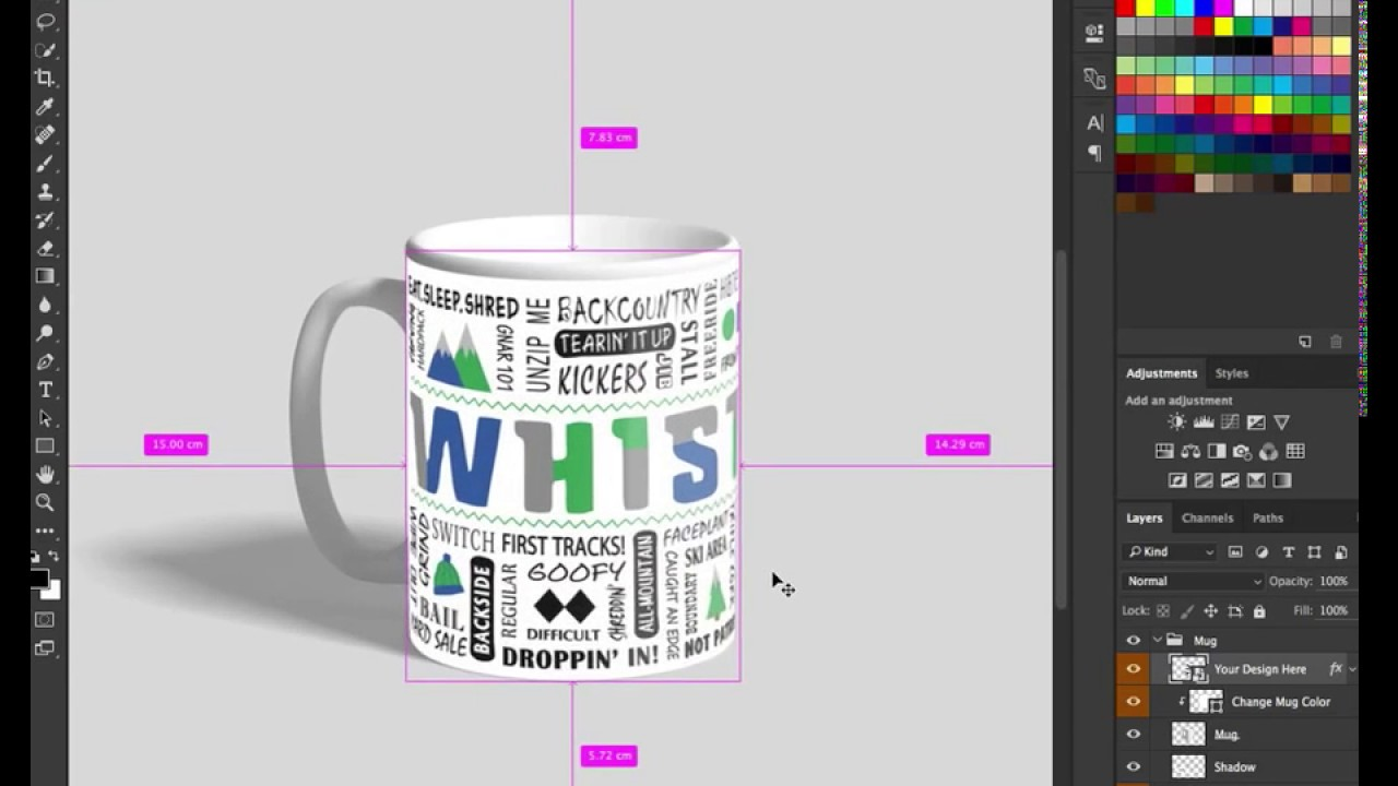 Coffee Mug Mockup Psd Photoshop Free Mug Design For A