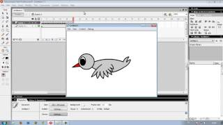 cara membuat animasi burung terbang