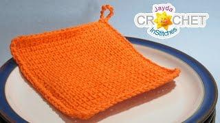 Tunisian Crochet Stitch - EASY Dishcloth Crochet Pattern