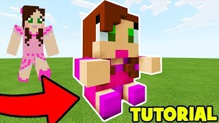 Minecraft: How To Make Gamingwithjen Plush Statue