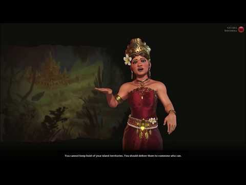 Sid Meier's Civilization VI - Gitarja Of Indonesia's Agenda (Negative Reaction)