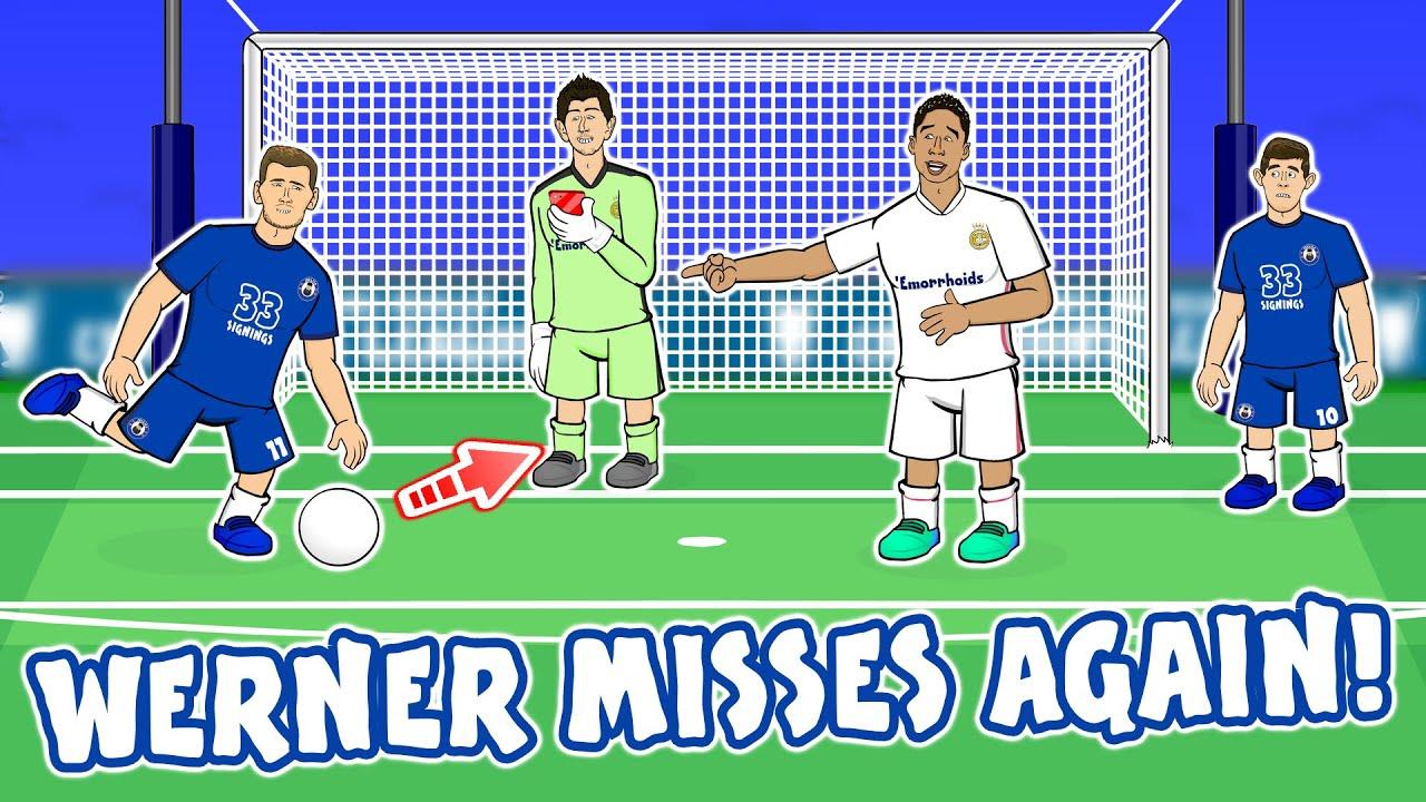 😲TIMO WERNER MISSES AGAINST REAL MADRID!😲 (+Fulham Leeds Newcastle etc) Real Madrid vs Chelsea 1-1!