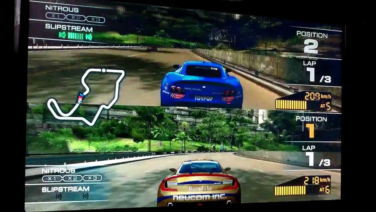 Free Ridge Racer 7 Wallpaper In 1280x800: Ridge Racer 7 2 Player Split-Screen Multiplayer Gameplay