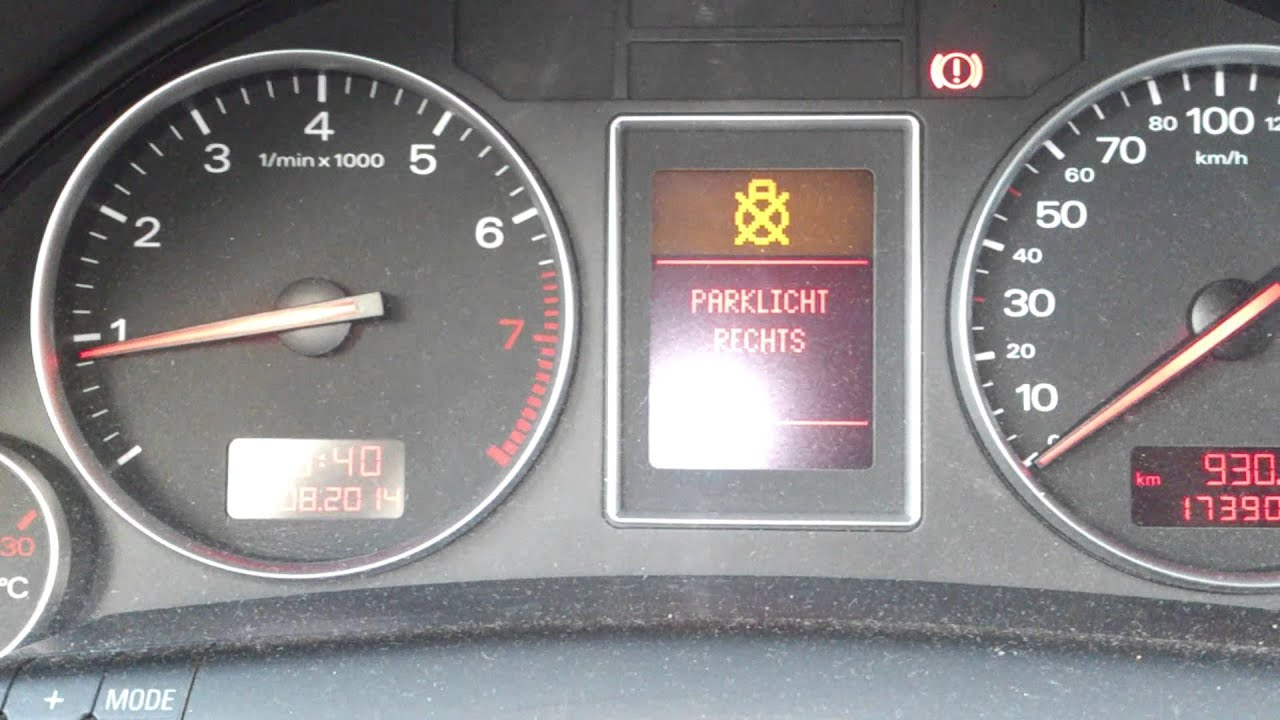 Audi A4 B6 light problem/ door control module error - YouTube