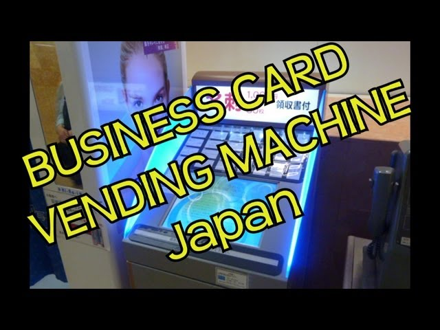Business Card Vending Machine - Japan