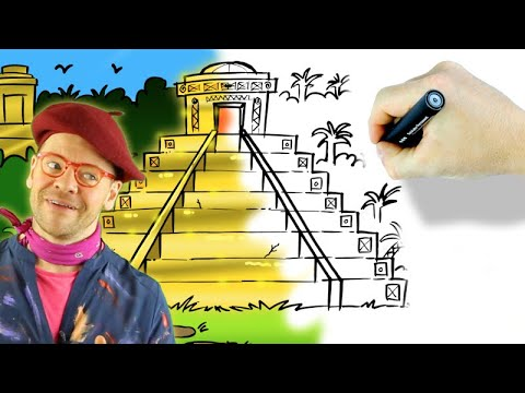 How To Draw An Inca Temple From Dora And The Lost City Of Gold
