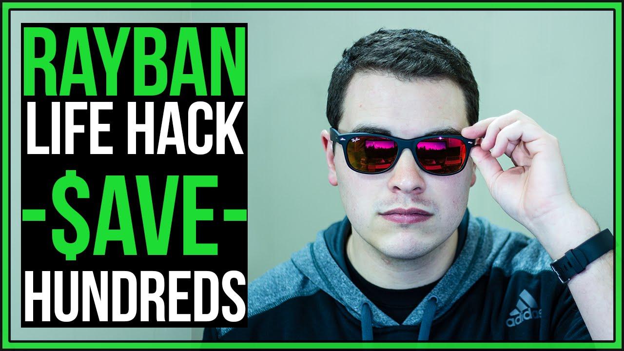 c9226ae8ac ... sunglasses cffcd af31b  sweden ray ban 2132 new wayfarer hack save  hundreds rayban youtube c0ac7 6658c