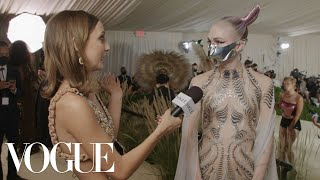 Grimes on Her Sci-Fi Warrior Look | Met Gala 2021 With Emma Chamberlain | Vogue